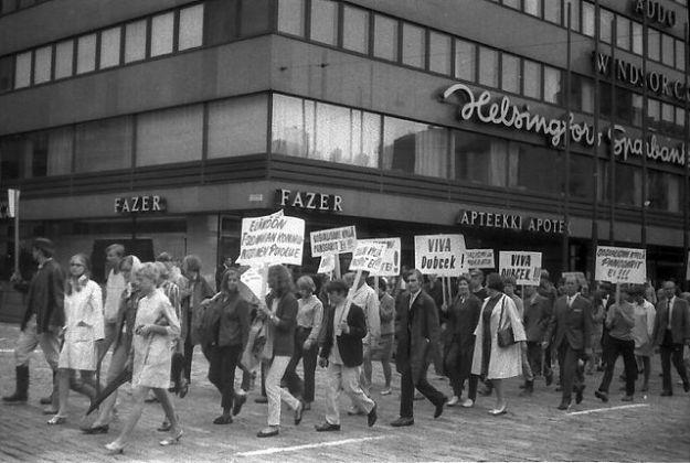 Katukuva Helsingistä vuodelta 1968. Kuva: Wikipedia, Szilas.